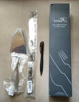 Ricci Anvil 2-Piece Stainless Cake Knife and Server Set
