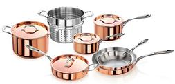 artaste 56747 rain tri ply copper clad induction ready cookw