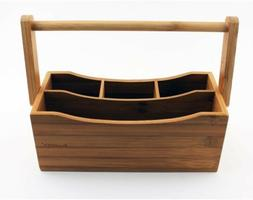 Flatware Caddy Kitchen Organizer Storage Table Utensils Silv