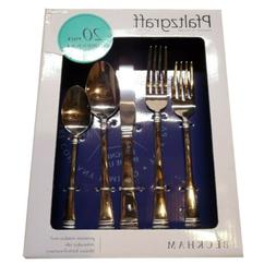 Pfaltzgraff Beckham 20-Piece Stainless Steel Flatware Set, S