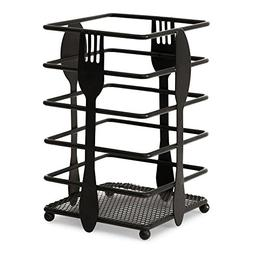 Black Metal Utensil Holder Cutlery Caddy Organizer Kitchen S