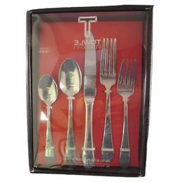 Towle Boston Antique 45-Piece 18/10 Stainless Steel Flatware