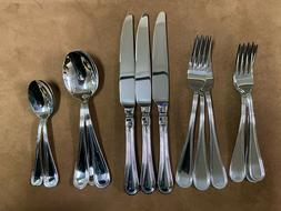 Vietri Bugatti Albergo Stainless 3- 5pc Place Settings