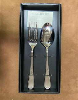 Vietri Bugatti Albergo Stainless Serving Spoon and Serving F