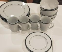 cafe stripe dinnerware set