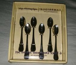 CAMBRIDGE SILVERSMITHS  6 PIECE DEMITASSE SPOON SET FINE STA