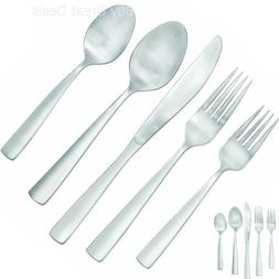 Farberware Cayenne Satin 20-Piece Flatware Set, Service for