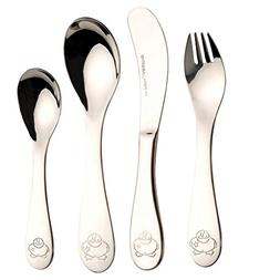 BergHOFF 4 Piece Children's Line Sheriff Duck Flatware Set,