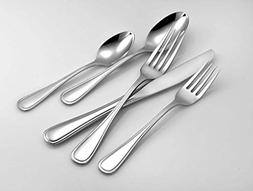 Liberty Tabletop Classic Rim 45 Piece Flatware Set for 8 Mad