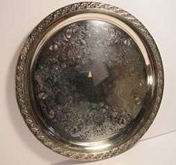 International Silver Co, Medium Silver-Plated Serving Tray,