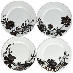 Mikasa Cocoa Blossom Set of Four Accent Plates