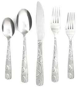 Cambridge Conquest 30 Piece Flatware Set in Sand