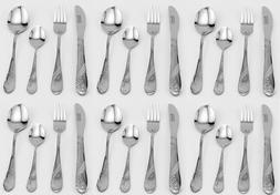 NEW BergHOFF INTERNATIONAL COOKNCO 24 PIECE SPHERE FLATWARE