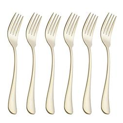 6 Piece Dinner Fork Set 7.3-inch Stainless Steel Table Forks