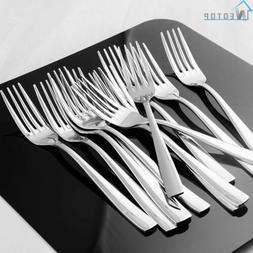 Dinner Forks Set 12 Piece Heavy Duty Tableware Cutlery Flatw