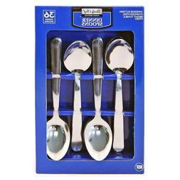 Daily Chef Dinner Spoons, Flatware - 36 Pieces Windsor Patte