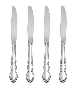 Oneida Dover Fine Flatware Set, 18/10 Stainless, Set of 4 Di