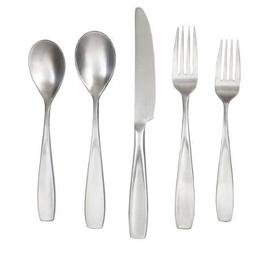 Durable Stainless Steel Flatware Set, 20 Piece, Silver