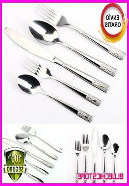 Stainless Steel Flatware Service For,8 Dinning Home Table Si