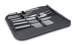 Berghoff Eclipse 9-Piece Knife Set Folding Bag Hollow, Silve