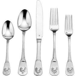 Cuisinart Elite 20-Piece Flatware Set, French Rooster Collec