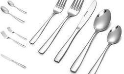 Eslite 60-Piece Stainless Steel Flatware Sets, Service for 1