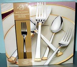Lenox Eternity Gold 45 Piece Stainless 18/10 Flatware Servic