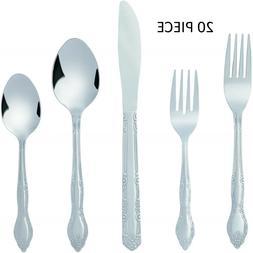 Flatware Cutlery Set Stainless Steel 18/10 Silverware 20 Pie