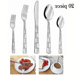 Flatware Cutlery Set Stainless Steel 18/10 Silverware 20 Pie