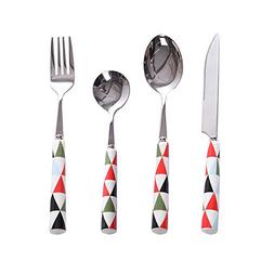 Flatware Geometric Figure Ceramic Handle Dessert Coffee Teas