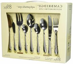 Flatware Service for 12 Stainless Steel Set Silverware Place