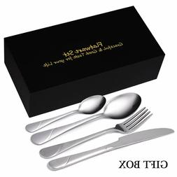 Flatware Set, 24-Piece Silverware Set Service for 6 Stainles