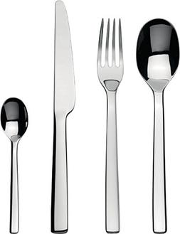 "Alessi""Ovale"" Flatware Set Composed Of Six Table Spoons, Tab"