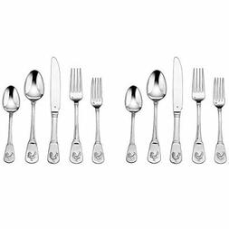 Cuisinart 2-Pack of 20-Piece Flatware Set, French Rooster CF