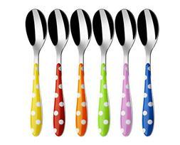 "BUGATTI - Flatware set 6 pcs. Moka spoon""Pois"" MIX COLOUSCA."
