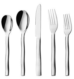 20-Piece Flatware Silverware Set, Wavy Heavy Cutlery, 18/10