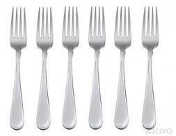 Oneida Flight 6 Dinner Forks  All Shiny Pattern - Stainless