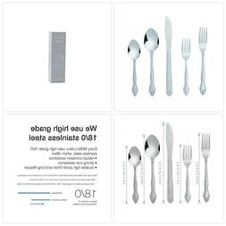 Bon Flora 20-Piece Stainless Steel Flatware Silverware Cutle