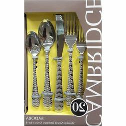 Genuine Cambridge Silversmiths Isadora Flatware Set, 20 Piec