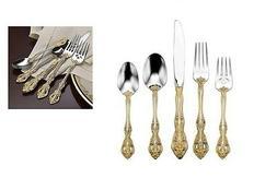 Oneida Golden Michelangelo 18k Gold Service for 4 Flatware s