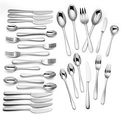 Lenox Haven 75 Piece 18/10 Stainless Flatware Set, Service f