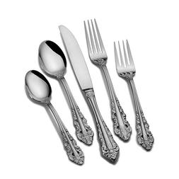 Wallace Home Antique Baroque 20 Piece Flatware Set, Stainles