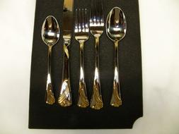 Lenox KELLY GOLD ACCENT 5 Piece Place Setting 18/8 Stainless