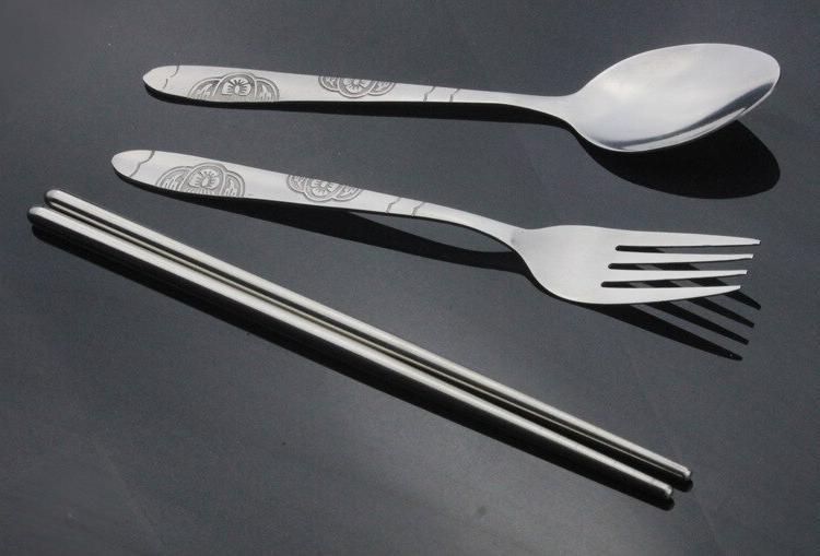 1SET Portable Chopstick Spoon Set Bento Box Set KV