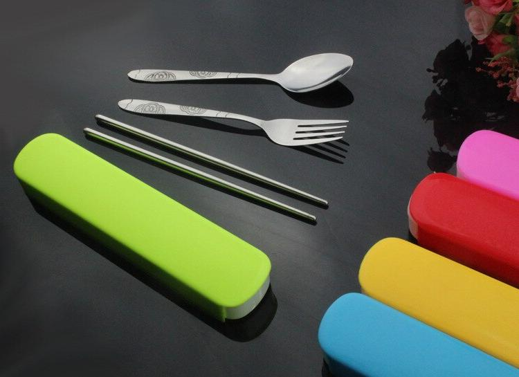 1SET S/Steel Cutlery Chopstick Spoon Set Bento Box Set