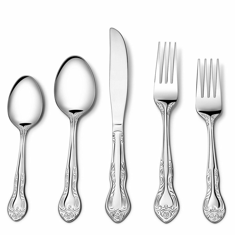 20/100 Piece Flatware Cutlery Set Service