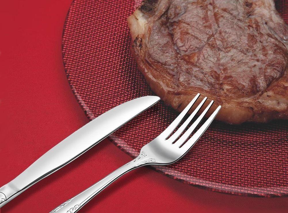 20/100 Flatware Cutlery Steel Service 4