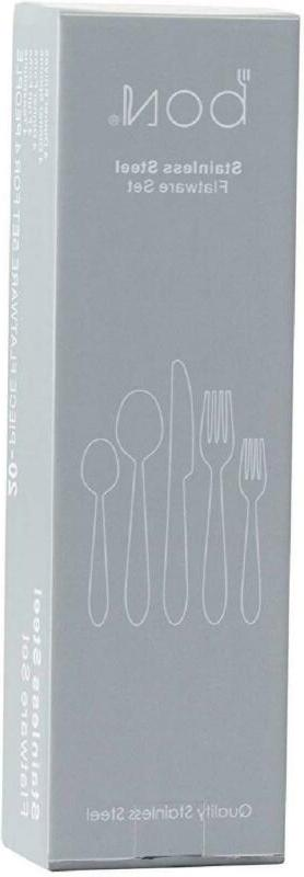 20 Pc Flatware Silverware Service for 4 Knife/Fork/S
