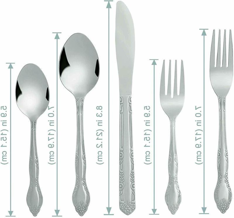20 Flatware Cutlery Service