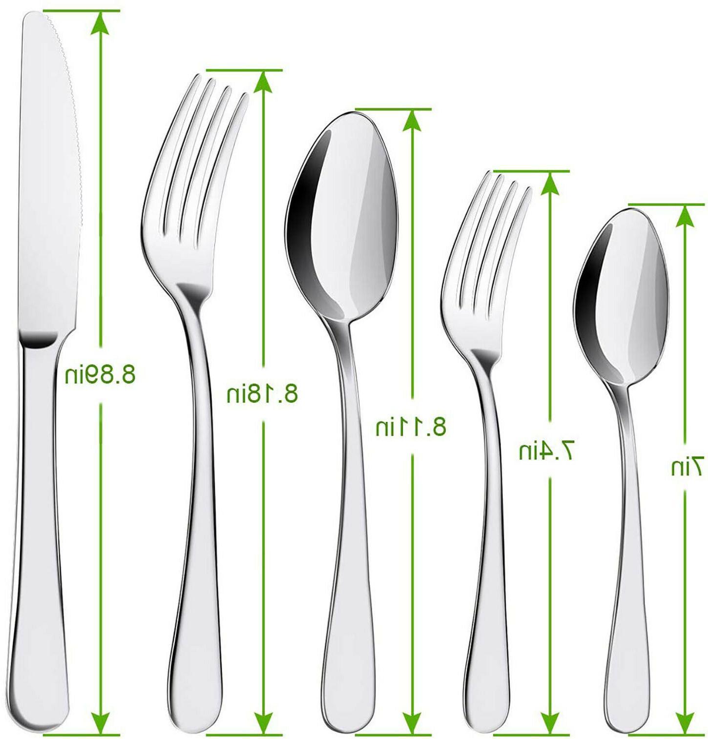20 Stainless Steel Flatware Service 4 Kitchen Cutlery